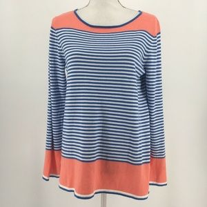 STS Sail To Sable Sweater Long Sleeve Striped Blue